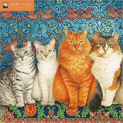 Ivory Cats by Lesley Anne Ivory 2019 Square Wall Calendar