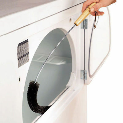 1xCLOTHES DRYER Lint Vent Trap Cleaner Brush Gas Electric Fire Refrigerator Tool