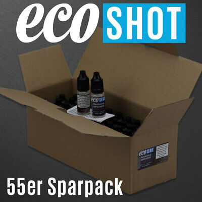 (58,16 €/L) 55 x Nikotinshots 20 mg/ml Made in Germany Nikotinshot Shot Basis