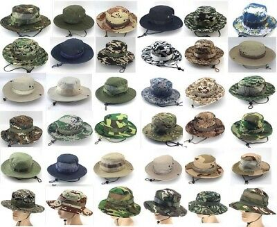 11215520a91 Bucket Hat Boonie Hunting Fishing Outdoor Cap Wide Brim Military Unisex Sun  Camo