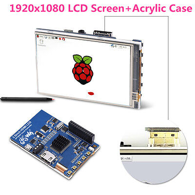 "3.5"" HDMI LCD 1920x1080 Touch Screen IPS Display Kit for Raspberry Pi 1 2 3 EB"