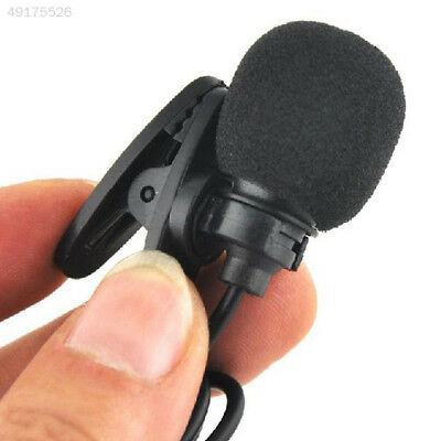 E1FD Mini Clip-On Lapel Wired Double Track Microphone MIC For SmartPhones PC