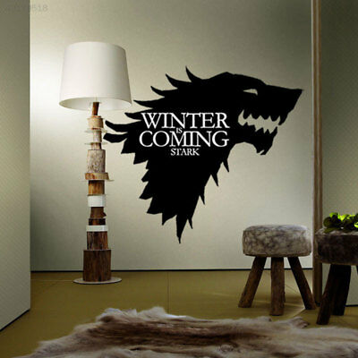 0885 House STARK Game of Thrones Decals Car Wall Wolf Sticker Bedroom Decor