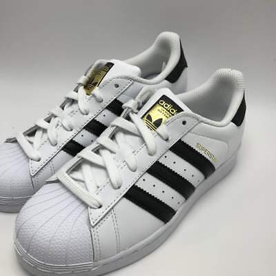 NEW ADIDAS YOUTH Originals Superstar J Gs C77154 Whiteblackwhite