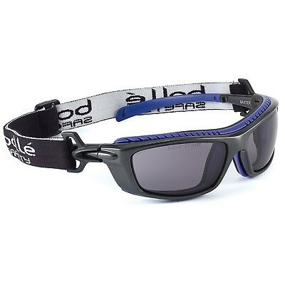 fb29f0dfd3 BOLLE HUSTLER SAFETY Sunglasses Black Frame and Polarized Smoke Anti ...