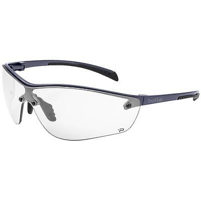 Bolle Silium Safety Glasses with Clear Anti-Fog Lens, Gunmetal Frame