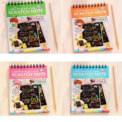 7C5A Magic Scratch Art Painting Book Paper Colorful Educational Playing Toys