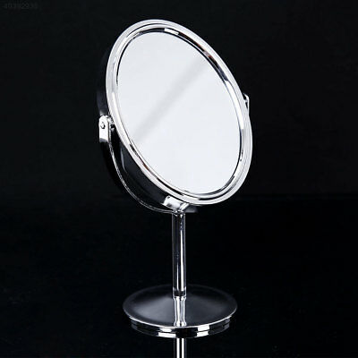 E548 New Beauty Makeup Oval Double-Sided Normal Magnifying Stand Style Mirror
