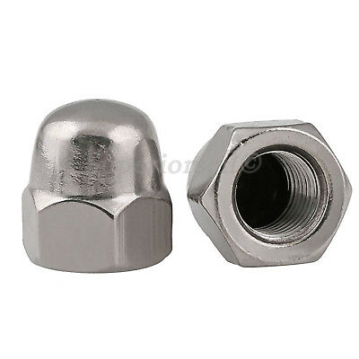 M3 M4 M5 M6 M8 M10 M12 Acorn Cap Dome Nuts to Fit Metric Bolts -SUS201 Stainless