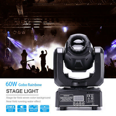 60W RGBW Bühnenlicht LED Beam Moving Head Gobos DMX512 Disco Party Beleuchtung