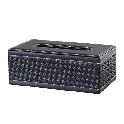 Baoblaze Napkin Holder Tissue Box Car Storage Container Black Knit Dispenser