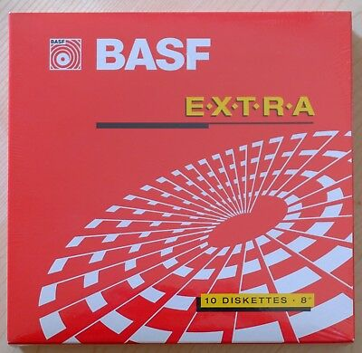 "BASF - EXTRA - 1S/2D  - 8"" Disketten OVP"