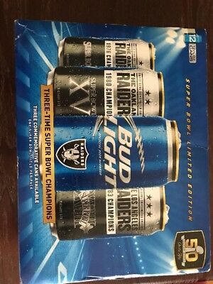 Oakland Raiders Bud Light Super Bowl 12 Pack