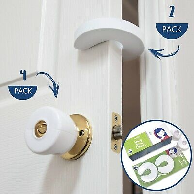 Door Safety Kit | Includes (4) Door Knob Covers (2) Finger Pinch Guards | Wittle