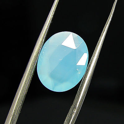 1.95 Ct Natural Blue Chalcedony Loose Faceted Gemstone Beautiful Stone - 10787