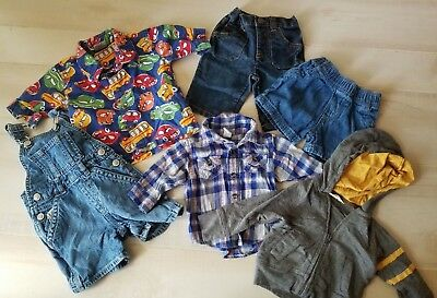 Baby Boys Bundle of Clothes 0-6 Months Shirts, Overalls, Shorts and Jacket