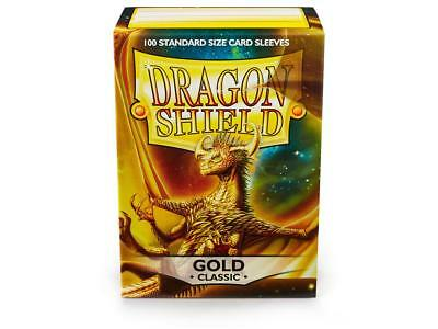 Gold Classic 100 ct Dragon Shield Sleeves Standard Size FREE SHIPPING! 5% OFF 2+