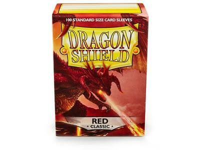Red Classic 100 ct Dragon Shield Sleeves Standard Size FREE SHIPPING! 5% OFF 2+