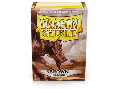 Brown Classic 100 ct Dragon Shield Sleeves Standard Size FREE SHIPPING 5% OFF 2+