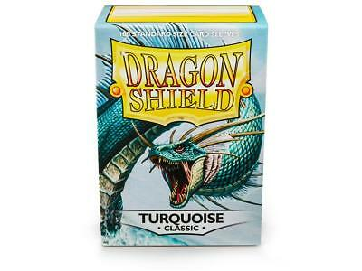 Turquoise Classic 100 ct Dragon Shield Sleeves Standard FREE SHIPPING! 5% OFF 2+