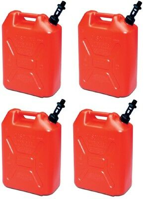 (4) Scepter 05086 RV520S 5 Gallon US/20 Military Style Carb Compliant Gas Cans