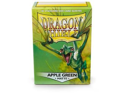 Apple Green Matte 100 ct Dragon Shield Sleeves Standard FREE SHIPPING! 5% OFF 2+