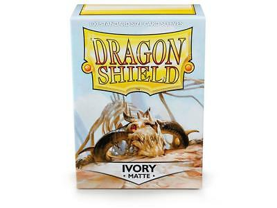 Ivory Matte 100 ct Dragon Shield Sleeves Standard Size FREE SHIPPING! 5% OFF 2+