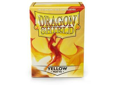 Yellow Matte 100 ct Dragon Shield Sleeves Standard Size FREE SHIPPING! 5% OFF 2+