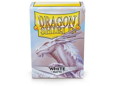 White Matte 100 ct Dragon Shield Sleeves Standard Size FREE SHIPPING! 5% OFF 2+
