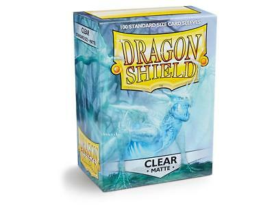Clear Matte 100 ct Dragon Shield Sleeves Standard Size FREE SHIPPING! 5% OFF 2+