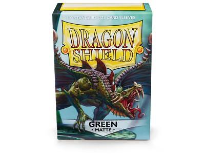 Green Matte 100 ct Dragon Shield Sleeves Standard Size FREE SHIPPING! 5% OFF 2+
