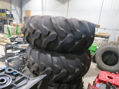 Set of two Good Year 19.5 L-24 tires with Case 580 rims loader backhoe tire 19.5
