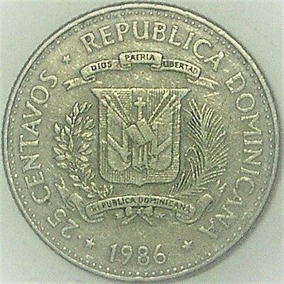 Dominican Republic 1986 25 Centavos  HUMAN RIGHTS ISSUE, MIRABAL SISTERS