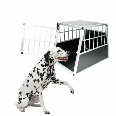 Alu Hundetransportbox Hunde box Reisebox Autotransportbox Gitterbox Kofferraum ⭕