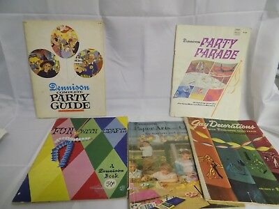 Vntg Lot Of Dennison Craft Party Books Paper Arts/party Parade/gay Decoration