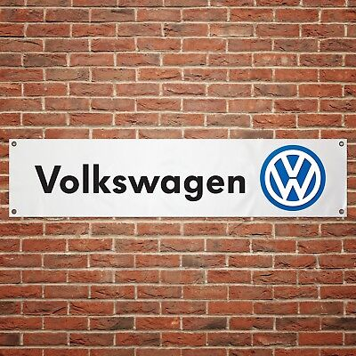 Volkswagen Banner Garage Workshop PVC Sign Trackside Motorsport Car VW Display