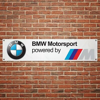 BMW M Sport Banner Garage Workshop PVC Sign Trackside Motorsport Car Display