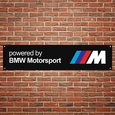 BMW M Sport Banner Garage Workshop PVC Sign Trackside Motorsport BLACK Display