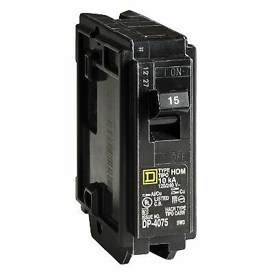 Homeline 15-Amp Single-Pole Circuit Breaker