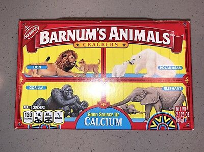 Nabisco Barnums Animal Crackers Classic BANNED Box Cage DISCOUNTINUED RARE