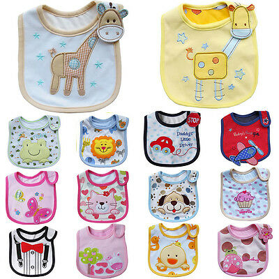 Baby Boy Girl Cotton Bibs Waterproof Saliva Towel Bib Feeding Burp Apron Bandana