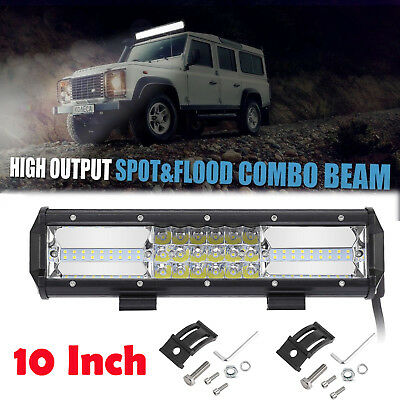 12inch CREE LED Light Bar Spot Flood Driving Lamp Offroad 4WD 4x4 Truck JEEP SUV