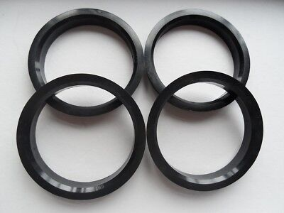 SET OF 4 64.10 MM ID x 67.10 MM OD POLYCARBONATE HUB CENTRIC RINGS