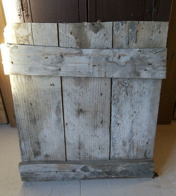 "BARN DOOR OLD VINTAGE 22"" x 25"" Farmhouse Door Barn wood Door w/Orig hardware"