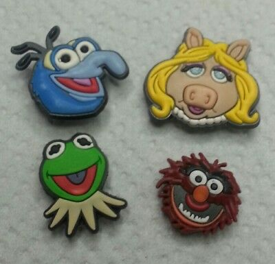 MUPPETS MISS PIGGY Kermit + 4pc SHOE CHARMS LOT FOR CROC SHOES JIBBITZ  BRACELETS