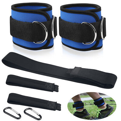 BUKA Ankle D-ring Strap Thigh Leg Pulley Cable Attachment Gym Weight Lifting