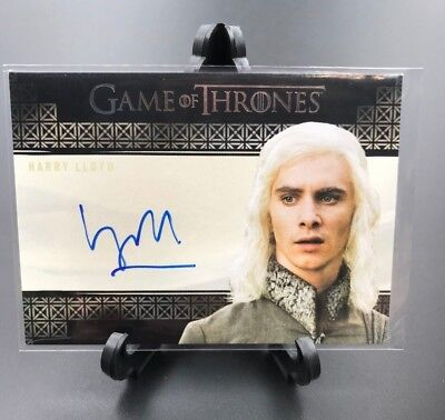 Game of Thrones Harry Lloyd Viserys Targaryen S7 Valyrian Steel Autograph Card