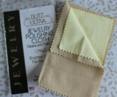 Blitz Jewellery Polishing Cleaning Cloth Gold Silver Platinum Double Non Toxic