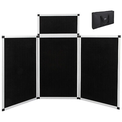 6 3+1 Velcro Black Panel Header Trade Show Display Presentation Tabletop 6Ft