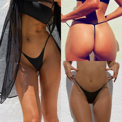 Women's Sexy G-string Transparent T-back Summer Bikini Beachwear Panties Brief
